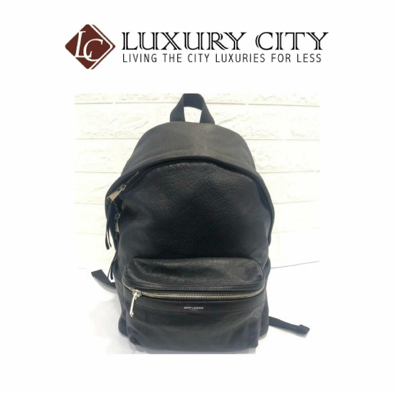 [Luxury City] Saint Laurent Full Leather Backpack-98738036