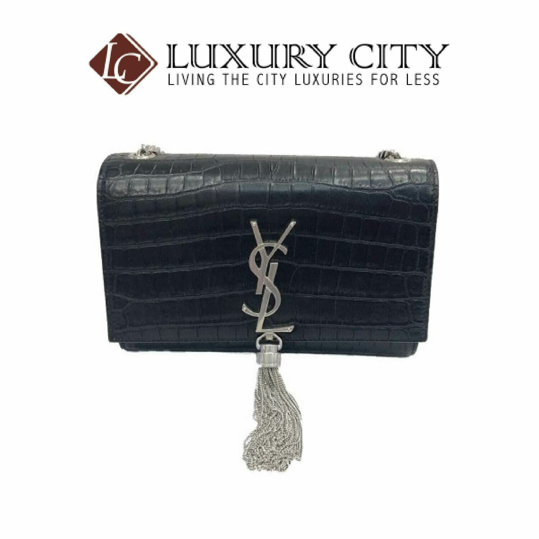 [Luxury City] Yves Saint Laurent Classic Monogram Tassel Satchel Black YSL- 96071324