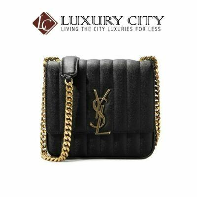 [Luxury City] Saint Laurent Vicky Medium In Matelasse Lambskin Black YSL- 532612