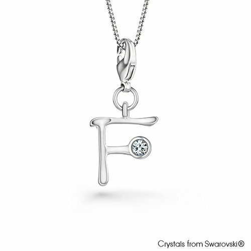 LUSH Alphabet F Charm Necklace