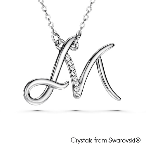 LUSH Alphabet M Necklace