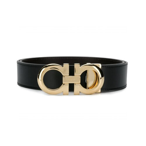 [Luxury City] Salvatore Ferragamo Reversible And Adjustable Gancini Belt Black Sferragamo-679974