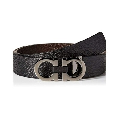 [Luxury City] Salvatore Ferragamo Reversible And Adjustable Gancini Belt Black/Brown Sferragamo-678783