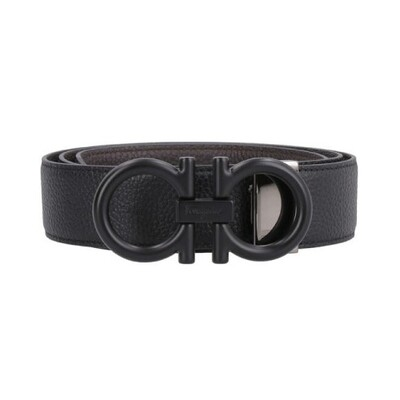 [Luxury City] Salvatore Ferragamo Adjustable And Reversible Gancini Belt Black/Brown Sferragamo-679974