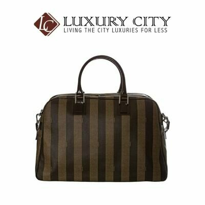 [Luxury City] Fendi Women Striped Duffle Bag