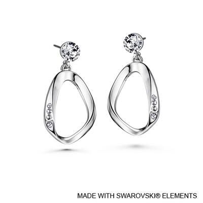 LUSH Amaris Pure Rhodium Plated Earrings