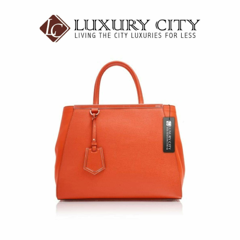 [Luxury City] Fendi Shopping 2Jours Medium Tote Orange
