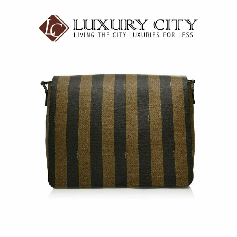 [Luxury City] Fendi Spalmati Pequin Messenger Bag