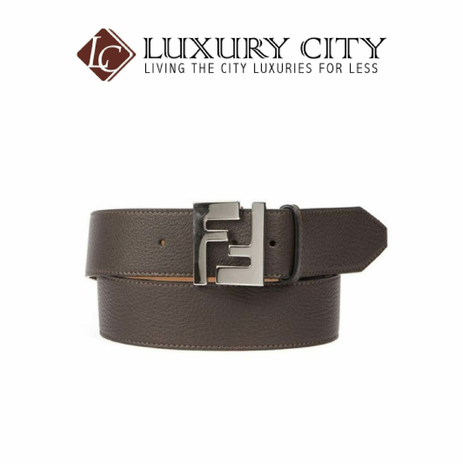 [Luxury City] Fendi Leather Belt Brown Fendi-7C0403