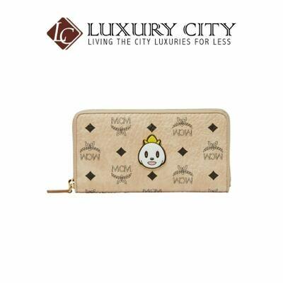 [Luxury City] MCM x Eddie Kang Zip Around Wallet in Visetos-MYL8SOC46IG