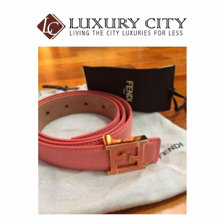 [Luxury City] Fendi Saffiano Leather Crayons Belt (70/75/80cm)