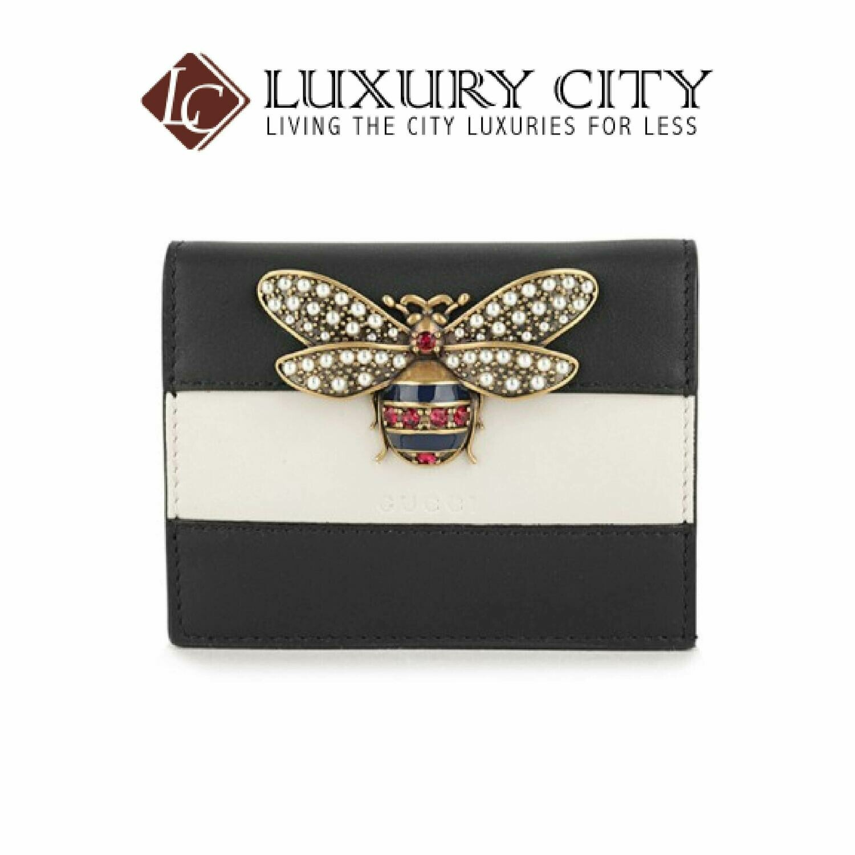 [Luxury City] Gucci Queen Margaret GG Card Case Wallet Black Gucci-476072