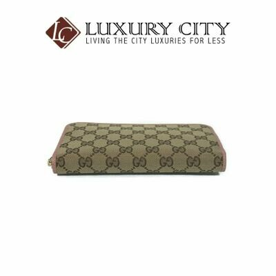 Gucci Microguccissima Zip Around Wallet Pink Gucci-496085