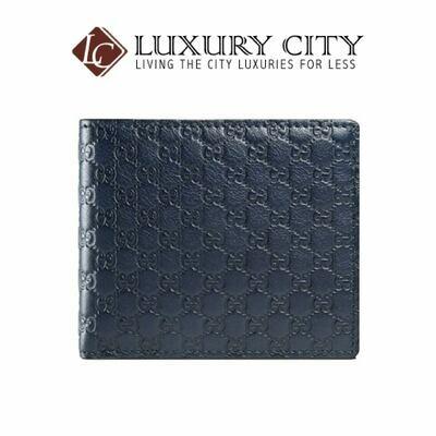 Gucci GG Micro Guccissima Monogram Blue Men's Bifold Wallet Gucci GG-001147