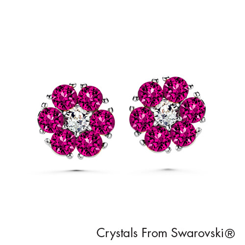 LUSH Flower Birthstone Earrings (Available in 12 Colours)