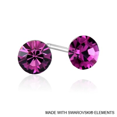 LUSH Solitaire Birthstone Stud Earring (Available in 12 Colours)