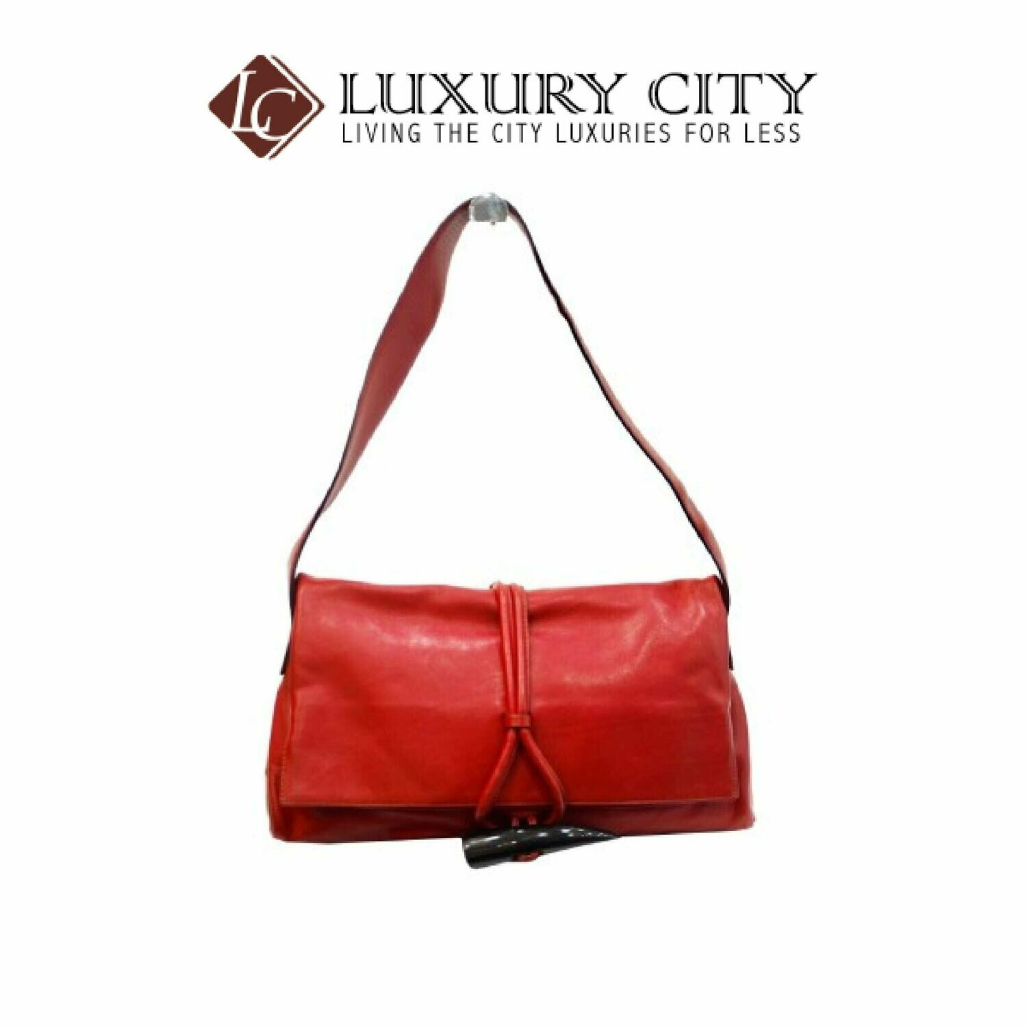 [Luxury City] Preloved Authentic Burberry Red Shoulder Bag