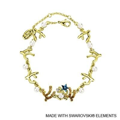 LUSH Coralyne 18K Gold Plated Chain Bracelet