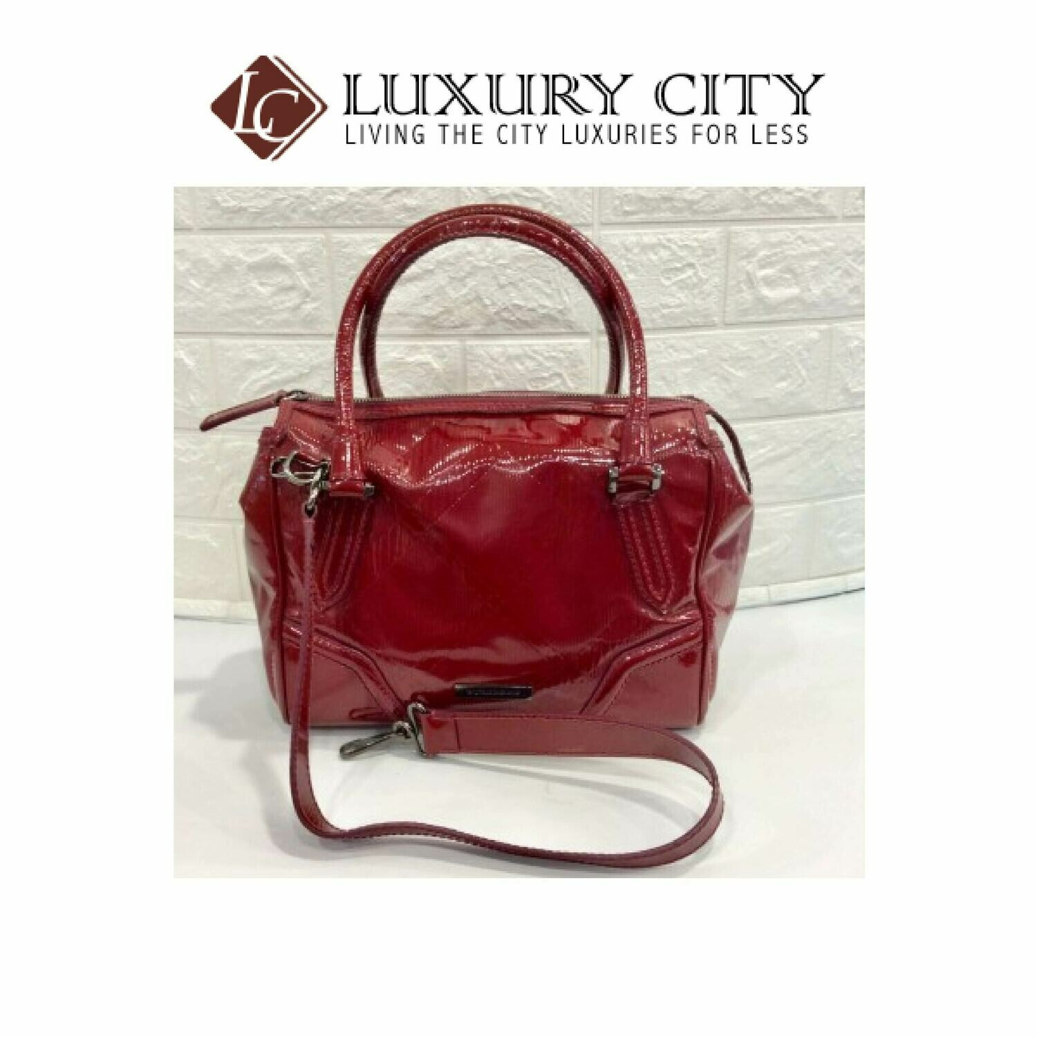 [Luxury City] Preloved Burberry Patent Leather 2 Ways Carry Bag