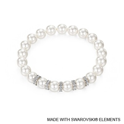 LUSH Classic Swarovski Pearl Bracelet