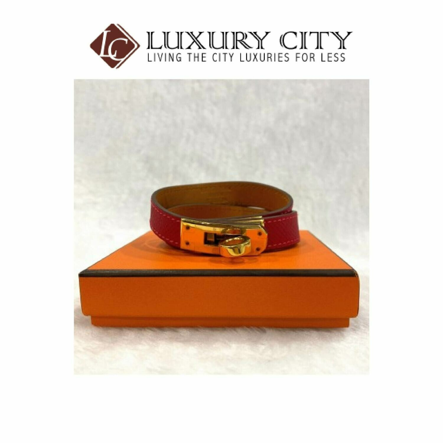 [Luxury City] Preloved Hermes Kelly Double Tour Leather Bracelet