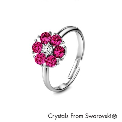 LUSH Flower Birthstone Ring (Available in 12 Colours)