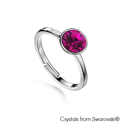 LUSH Solitaire Birthstone Ring (Available in 12 Colours)