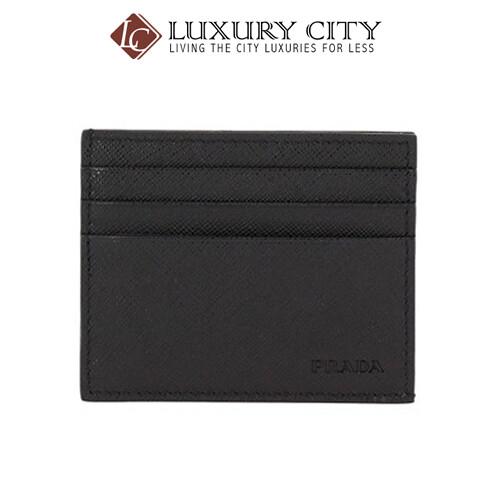 [Luxury City] Prada Saffiano Leather Card Holder PRADA-2MC223 (Black)