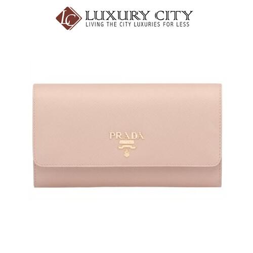 [Luxury City] Prada Saffiano Vernice Plain Long Wallet Prada -1DH002 (NUDE)