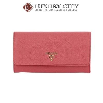 [Luxury City] Prada 1MH132 Saffiano Leather Long Fold Wallet