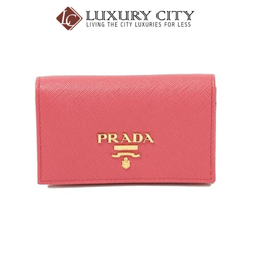 [Luxury City] Prada Leather Card Holder Pink Prada-1MC122