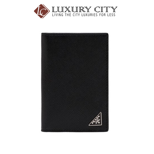 [Luxury City] Prada Leather Card Holder Black Prada-2MC101