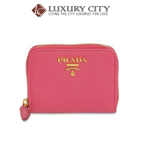 [Luxury City] Prada Women's Small Saffiano Leather Coin Purse Pink Prada-1MM268