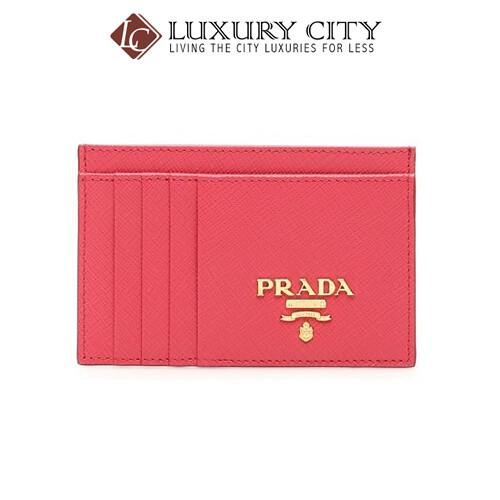[Luxury City] Prada Saffiano Leather Card Holder Prada-1MC053