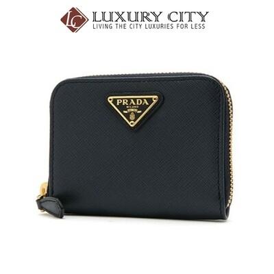 [Luxury City] Prada Saffiano Leather Coin Purse Black Prada-1MM268