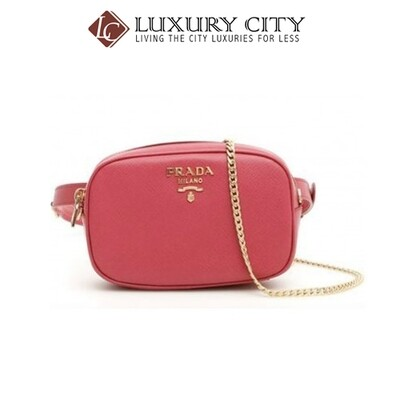 [Luxury City] Prada Saffiano Beltpack Pinkish Rose Red Prada-1BL007
