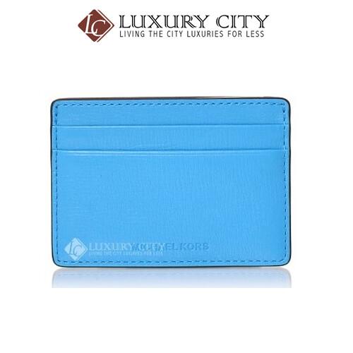 [Luxury City] Michael Kors Baby Blue Leather Cardholder