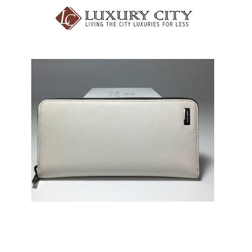 [Luxury City] Michael-Kors Jet Set Saffiano Leather Wallet In White