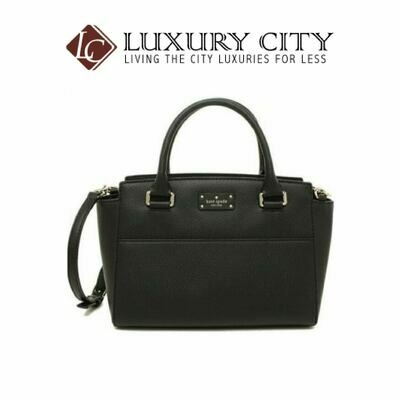 [Luxury City] Kate Spade New York Grove Street Small Lana Leather Crossbody Bag Black Kate Spade-WKRU5323