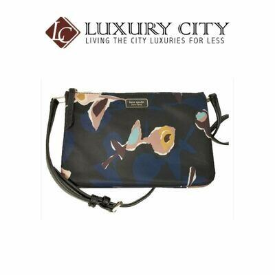 [Luxury City] Kate Spade New York Crossbody Nylon Dawn Dusk Paper Rose Triple Gusset Katespade-WKRU6000