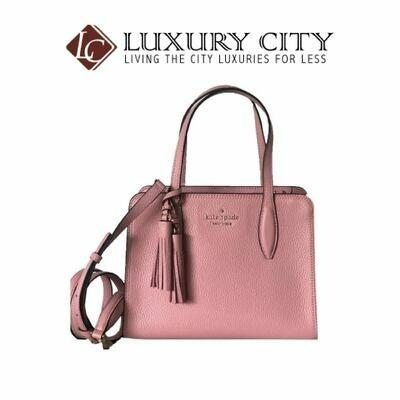 [Luxury City] Kate Spade Rowe Small Zipper Top Bag Shiny Pink Carnation Light Pink Katespade-WKRU6704