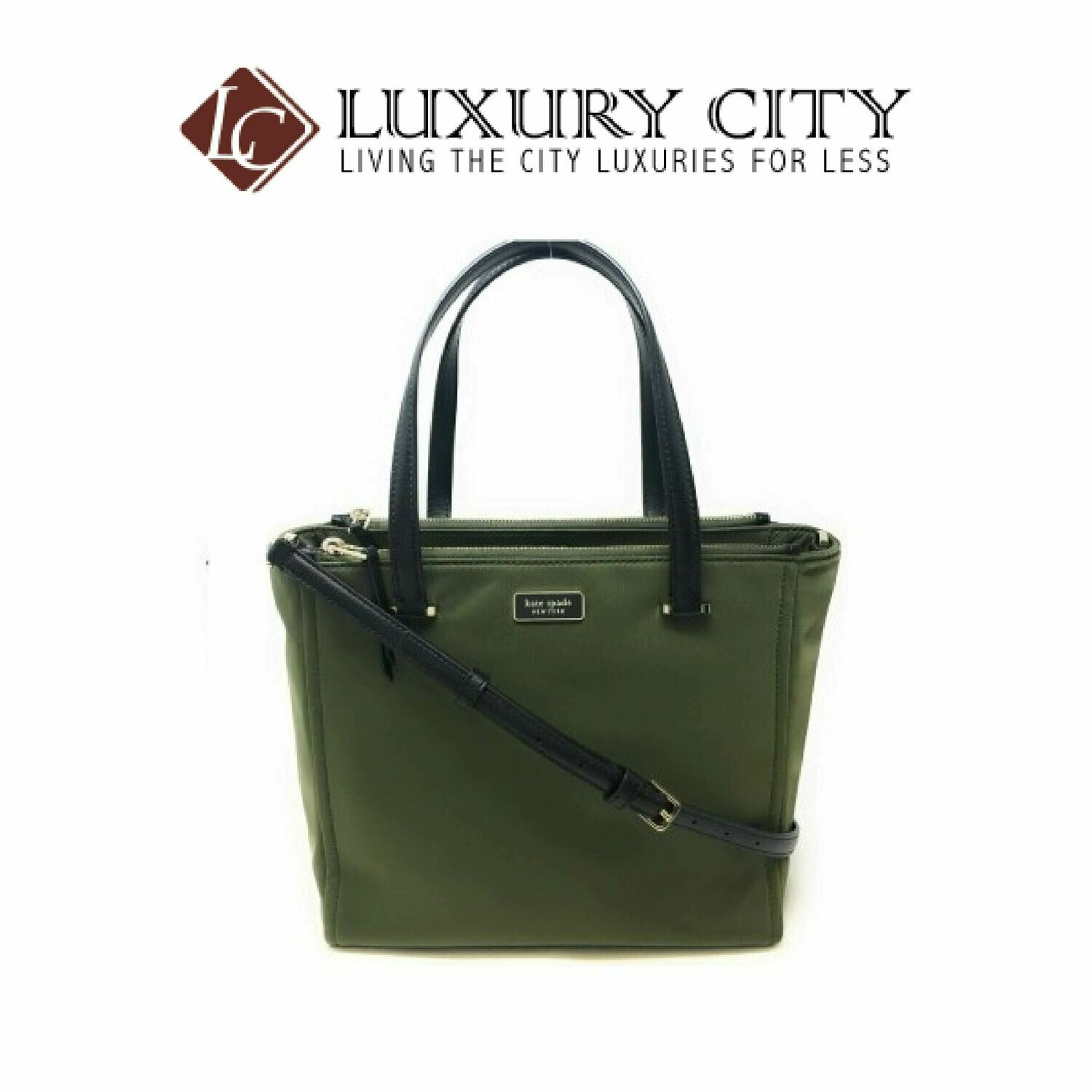 [Luxury City] Kate Spade Medium Satchel Dawn Sapling Handbag Green Katespade-WKRU5918