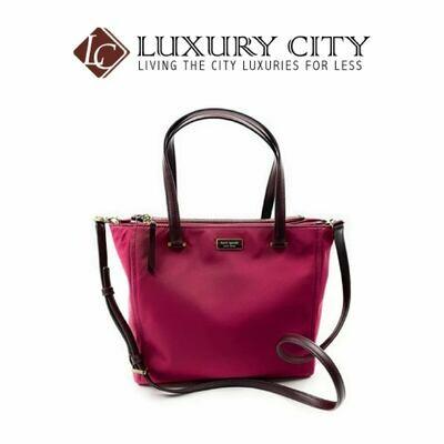 [Luxury City] Kate Spade Dawn Medium Satchel Dark Purple Katespade-WKRU5918