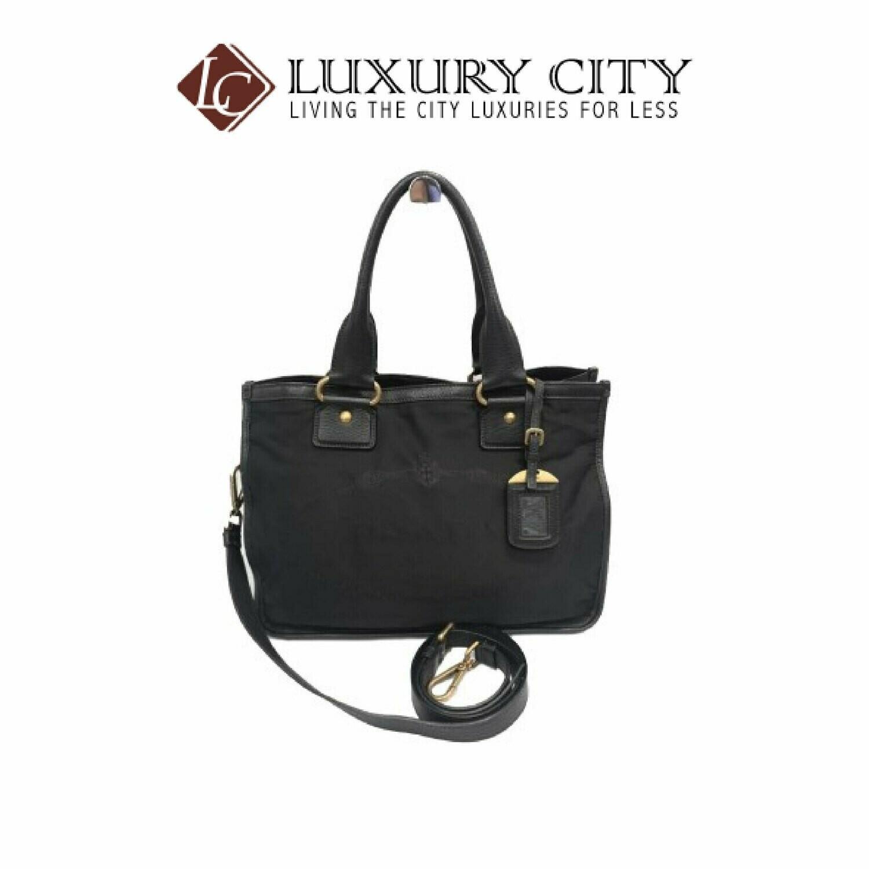 [Luxury City] Preloved Authentic Prada Fabric Handbag