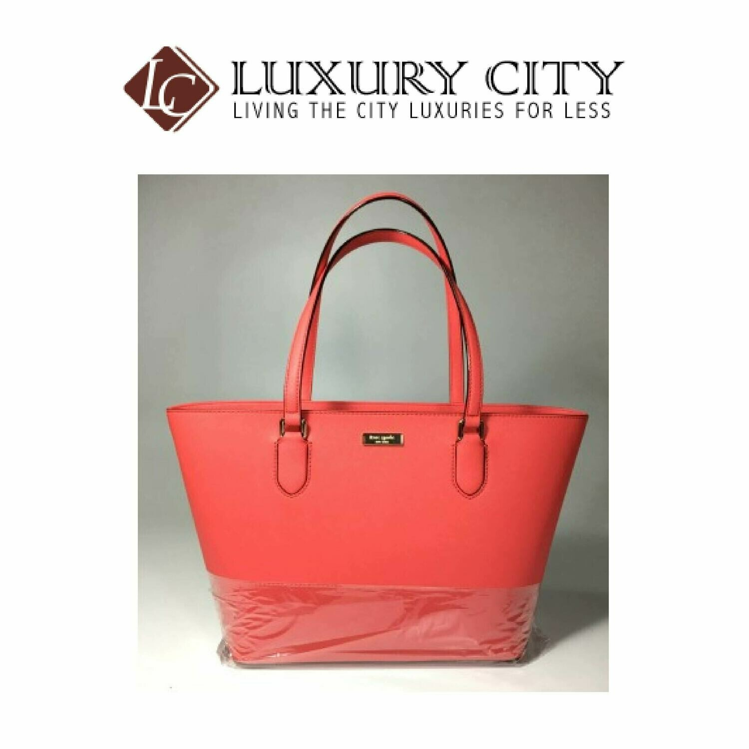 [Luxury City] Kate Spade Laurel Way Saffiano Crab Red Shoulder Bag Tote