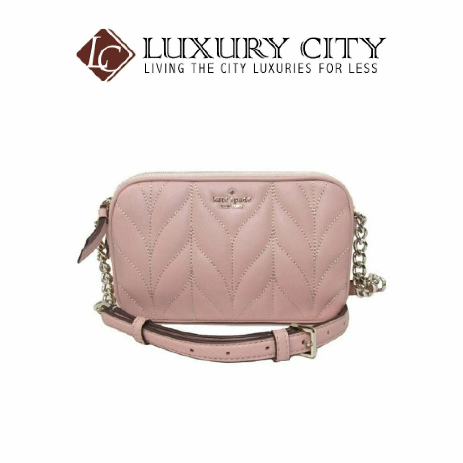 [Luxury City] Kate Spade Crossbody Bag Kendall Briar Lane Quilted Light Pink Katespade-WLRU5492
