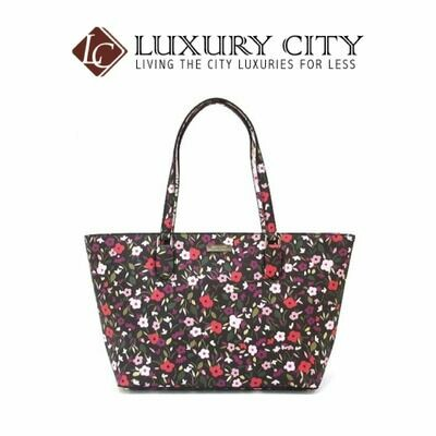 [Luxury City] Kate Spade Laurel Way Boho Floral Medium Dally Multicolor Coated Leather Tote Katespade-WKRU5524 (Multicolor)