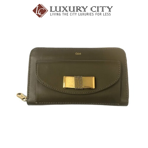[Luxury City] Chloe Round Fastener Long Wallet Chloe-3P0092