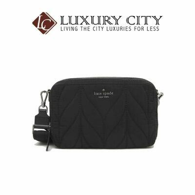 [Luxury City] Kate Spade Ellie Double Zip Camera Crossbody Bag Black Katespade-WKRU6201