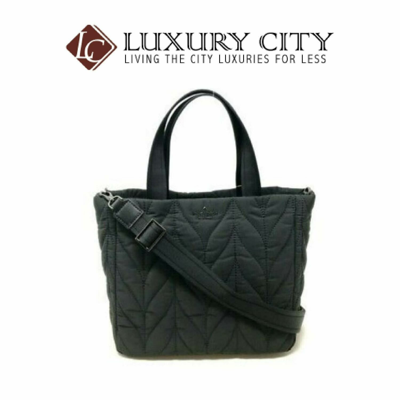 [Luxury City] Kate Spade Ellie Small Tote Nylon Handbag Katespade-WKRU5824 (Black)